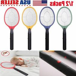 1/2 Packs Battery Electric Hand Held Bug Mosquito Zapper Rac