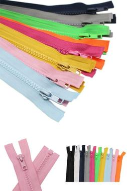 10Pcs 28 Inch  Separating Jacket Zippers For Sewing Coat Hea