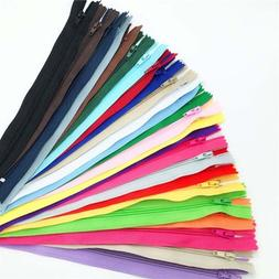 10Pcs/lot 22cm Nylon Invisible Coil Zippers Tailor for Sewin