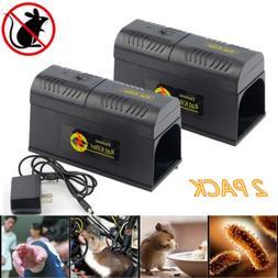 2 Electronic Mouse Trap Victor Control Rat Killer Pest Elect