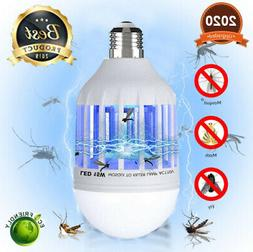 2 in 1 Light Zapper LED Lightbulb Bug Mosquito Fly Insect Ki