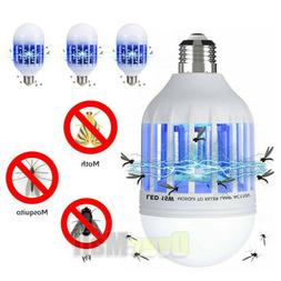2 in 1 Home Light Zapper LED Light Bulb Bug Mosquito Fly Ins