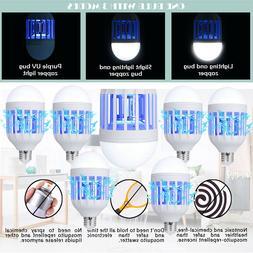 2-in-1 LED Light Zapper Lightbulb Bug Mosquito Fly Insect Ki