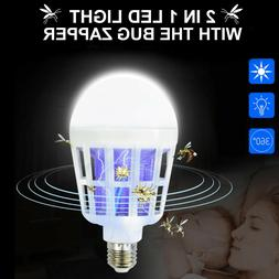 2 in 1 Light LED Light Bug Zapper Bulb Indoor/Outdoor Use
