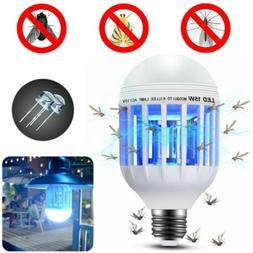2 in 1 Mosquito Zapper Light LED Lightbulb Bug Fly Insect Ki