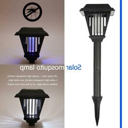 2 LED 0.4W Garden Lawn Solar Mosquito Killer Light Insect Pe