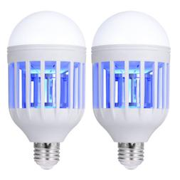 2 Pack Light Zapper LED Lightbulb Bug Mosquito Fly Insect Ki