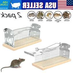 2 pack Live Catch Mouse Trap Humane Rat Trap Reset Pest Zapp