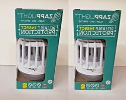 2 Pack Zapp Light 2n1 LED Lightbulb Bug Light Zapper Zap Mos