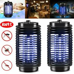 2 PC Electric Zapper LED Light Mosquito Fly Insect Killer La