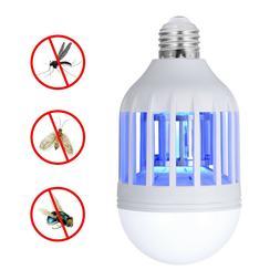 2 PCS Bug Zapper Light Bulb E27 Fly Killer for Outdoor Garde