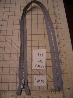 """29.75"""" Grey YKK Industrial Manufacture's Metal Zipper Separa"""