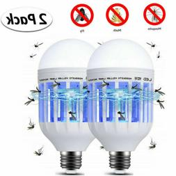 2PACK 15W LED Anti- Mosquito Insect Zapper Fly Bug Lure Kill