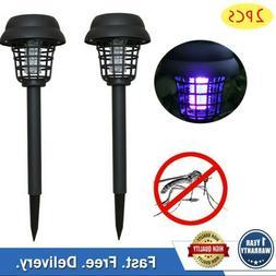 2PC Solar Garden Mosquito Killer Lamp Bug Insect Repellent T
