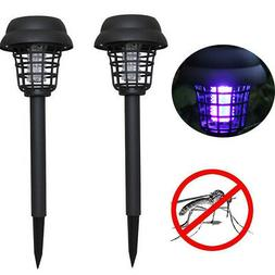 2PC Solar Powered LED Light Mosquito Pest Bug Zappers Insect