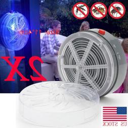 2pc Solar Powered UV Insect Bug Mosquito Home Kitchen Outsid