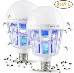 2Pcs Bug Zapper Light Bulb Mosquito Insect Killer Lamp Indoo