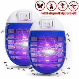 2Pcs UV Mosquito Repellent Killer Lamp Outdoor Fly Bug Insec