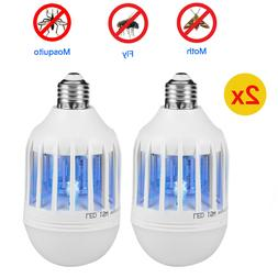 2x Light Zapper LED Lightbulb Bug Mosquito Fly Insect Killer