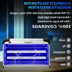 30W UV LED Lamp Electric Insect Flying Pest Mosquito Bug Kil
