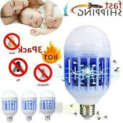 3Pack Bug Zapper Light Bulb 2 in 1 Mosquito Killer Lamp Outd
