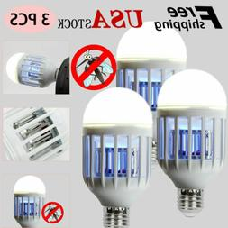 3pcs Mosquito LED Zapper Light Bulbs Indoor Fly Bug Killer L