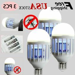 3pcs Mosquito LED Zapper Light Bulbs Indoor Fly Bug Killer L