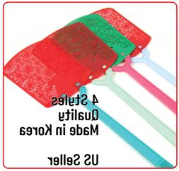 4 colors hand fly swatter bug mosquito