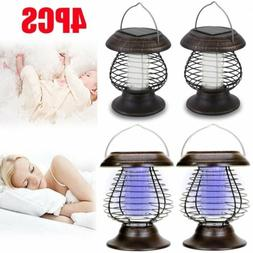 4 PACK Solar LED Mosquito Killer Lamp anti Fly Zapper Insect