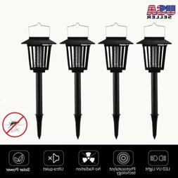 4PACK New Outdoor Bug Zapper Mosquito LED UV Lamp Light Sola