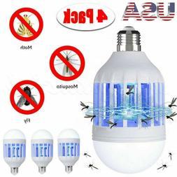 4pcs Light Zapper LED Light Bulb Bug Mosquito Fly Insect Kil