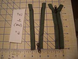 """6"""" Sage Army Green YKK Industrial Manufacture's Separating M"""