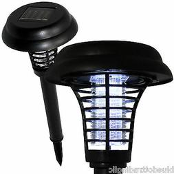 Solar Bug Zapper LED & UV Light Pathway Lighting Insect & Mo