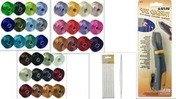 Beading Kit: ALL 36 Colors of S-lon Beading THREAD Size D ,