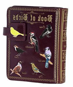 Shagwear Book of Birds Small Zipper Bifold Wallet