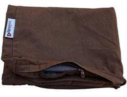 Dogbed4less 41X27X4 Inches Large size Brown Color Denim Jean