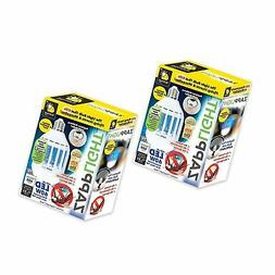 2 Pack ZappLight LED 920 Lumens Bug Zapper Bulb Insect and M