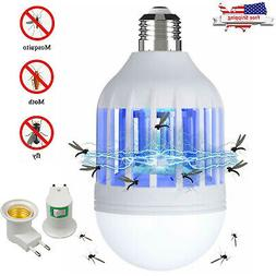 Bug Zapper LED Light Bulb Mosquito Lamp Fly Indoor Outdoor I