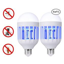 Bug Zapper Light Bulb, 2 in 1 Electronic Insect Killer, Mos