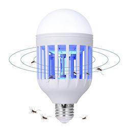 Bug Zapper Light Bulb - 2 in 1 Mosquito Lamp, Insect Killer,