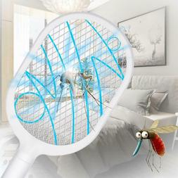 Bug Zapper Pest Anti Mosquito Swatter Killer Racket 3-Layer