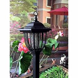 Bug Zappers Solar Powered Electric Light Zapper- Outdoor Cor