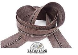"""YKK CF Coil Zipper Chain Tape #5  Color """"Walnut"""" sold by the"""
