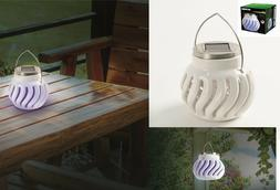 Decorative Solar Ceramic Electronic Bug Zapper Fly Insect  M