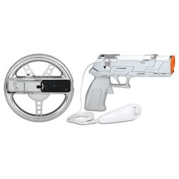 dreamGEAR DGWII-1285 Gaming Controller Accessory Kit - Silve