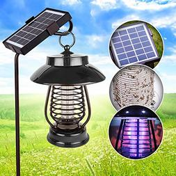 dual mode - solar powered outdoor mosquito & bug zapper or s