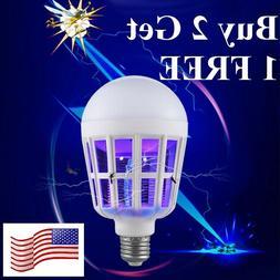 E26/27 Light Zapper LED Lightbulb Bug Mosquito Fly Insect Ki