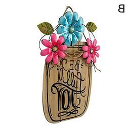 Easter Ornaments, Wooden Easter Flower Basket, Sweet Home Ha