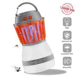 Electric Bug Mosquito Killer Zapper Camping Lantern Solar LE