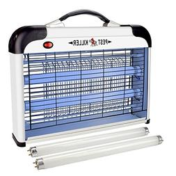 Flantor Electric Bug Zapper with Hanger, 2 Extra Free Bulbs